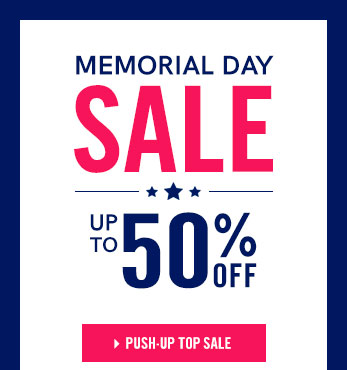 Memorial Day Sale: Up To 50% OFF!