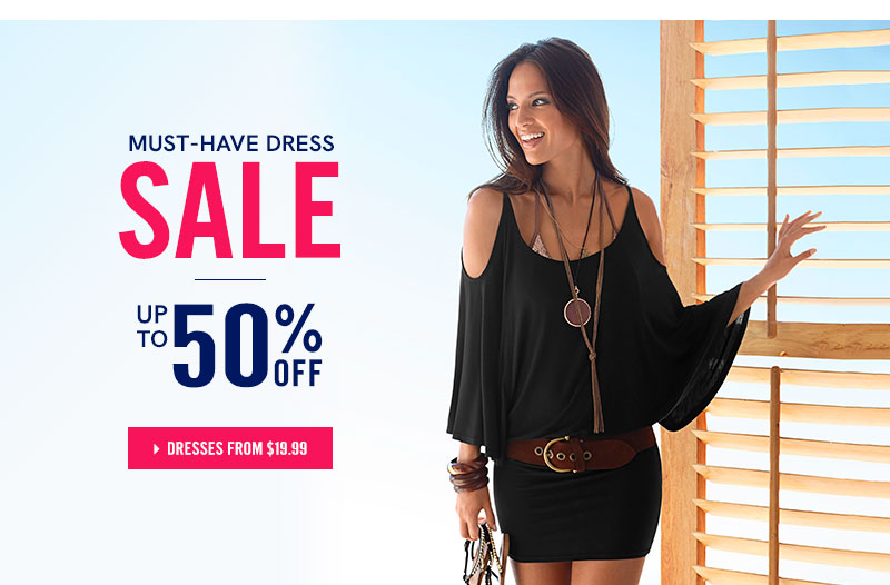 Must-have dress sale: Up to 50% OFF!