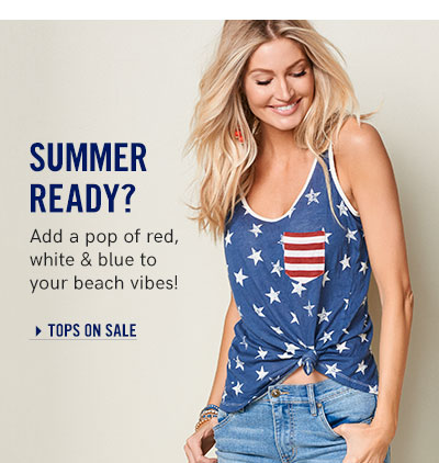 Summer Ready? Add a pop of red, white & blue to your beach vibes!
