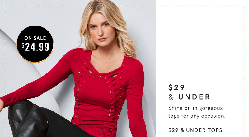 Stock up on everyday long sleeve tops now just $29 or less!