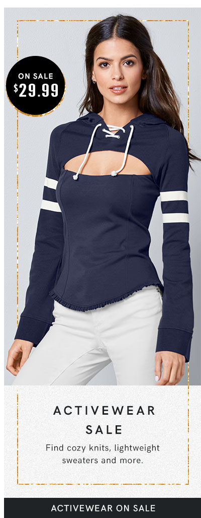 Keep it casual with our collection of women's loungewear and activewear.