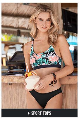 91951171f5b ... One-Piece Swimsuits · Shop our Sport bikini tops