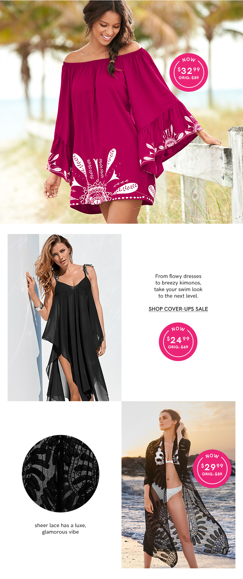 Shop our Swimwear Cover-Up sale.
