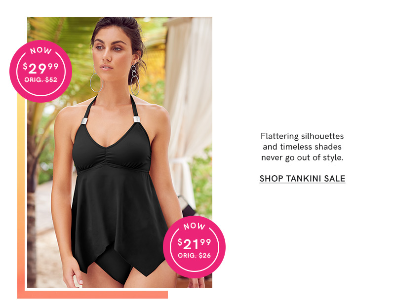 Shop our Tankini bikini sale.