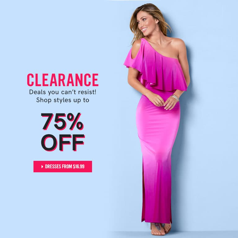 Clearance. Deals you can't resist - Shop styles up to 75% off!
