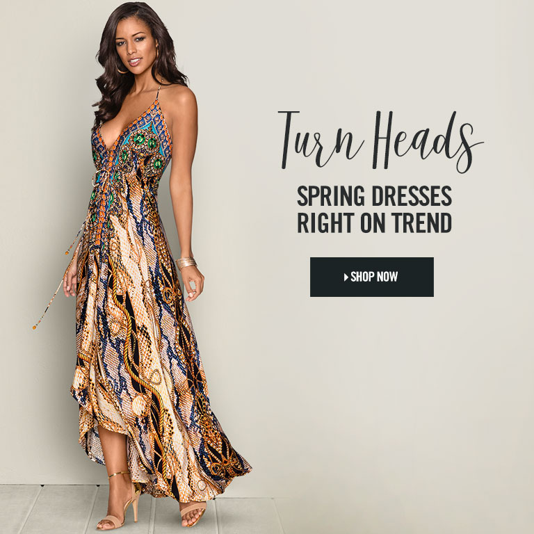 Turn Heads. Spring dresses right on trend.
