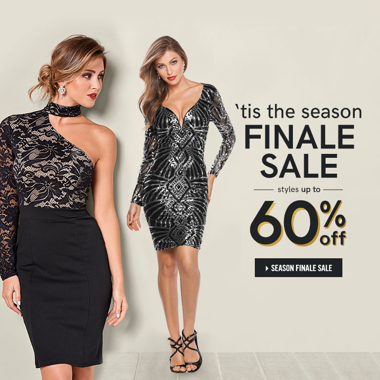 Tis the season finale sale. Styles up to 60% off.