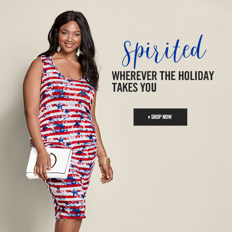 Spirited wherever the holiday takes you. Shop Plus Size Summer Dresses.